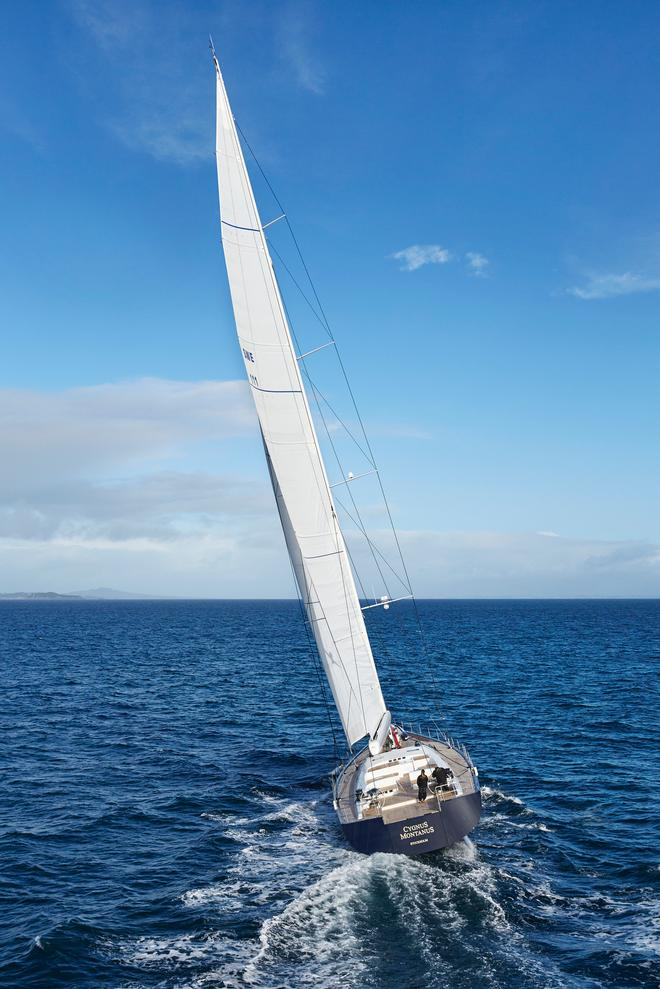 Cygnus Montanus shows off her sailing performance in Auckland sea trials  © Matt Crawford mattcrawfordphotography.com
