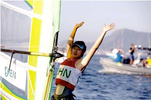 China silver - Women's Windsurfer (RS:X) - Rio Olympics photo copyright World Sailing taken at  and featuring the  class