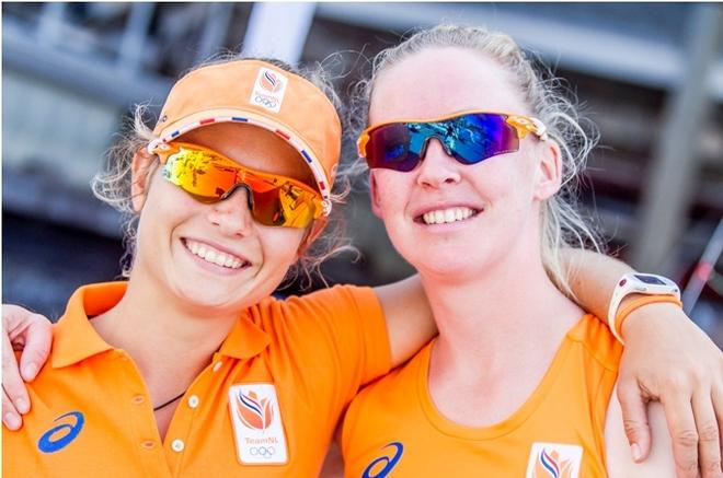 Afrodite Kyranakou / Anneloes Van Veen (NED) – 470  – Rio 2016 Olympic Sailing Competition © Sailing Energy / World Sailing