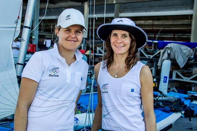 Jo Aleh / Polly Powrie (NZL) – 470  – Rio 2016 Olympic Sailing Competition © Sailing Energy / World Sailing