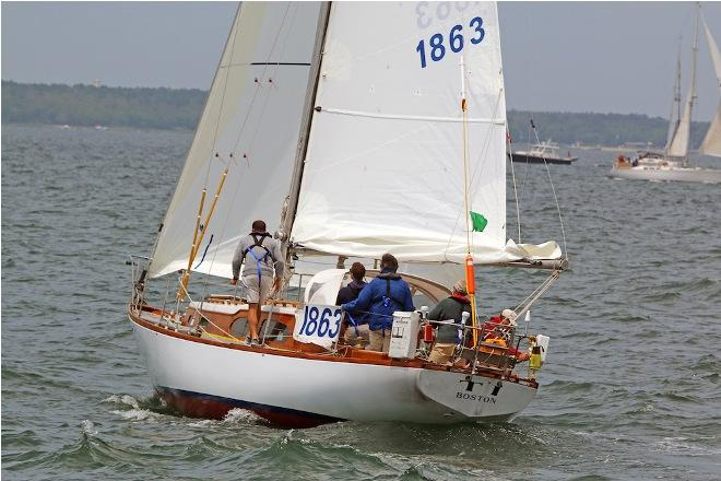 'TI' skippered by Greg Marston was the overall winner of the 2015 Marion Bermuda Race Founders Division.  'Ti', an Alden Mistral 36 sailed under Celestial Navigation by a family crew The crew of 'TI' consisted of navigators Andrew Howe and Chase Marston, watch captain Peter Stoops, and crewmembers John Omeara and Jake Marston. They are all related, and all are from Falmouth, Maine © SpectrumPhoto/Fran Grenon