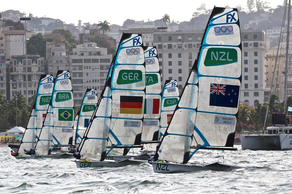 49erFX start - medal Race - 2016 Sailing Olympics © Richard Gladwell www.photosport.co.nz
