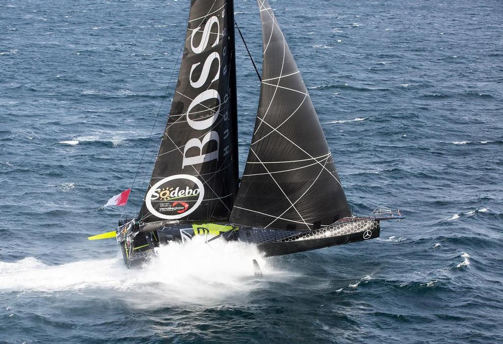 Skipper Alex Thomson will be sailing his foil-equipped IMOCA 60 Hugo Boss in the 2017 Fastnet Race © Hugo Boss