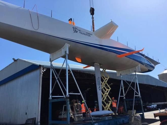 - CQS - revamped supermaxi, Nicorette - is launched in Tauranga, New Zealand © Bakewell-White Yacht Design www.bakewell-white.com/