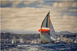 ParaSailor flying at the ARC start - photo © James Mitchell / WCC
