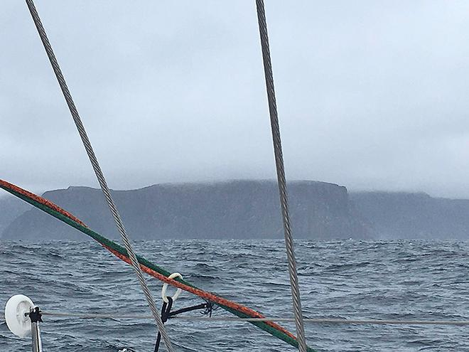The view from on board as Challenge passes Cape Raoul - Rolex Sydney Hobart Yacht Race ©  SW