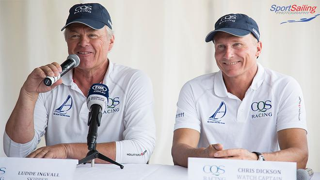 All smiles with Ludde Ingvall and Chris Dickinson - CQS Media Launch © Beth Morley - Sport Sailing Photography http://www.sportsailingphotography.com