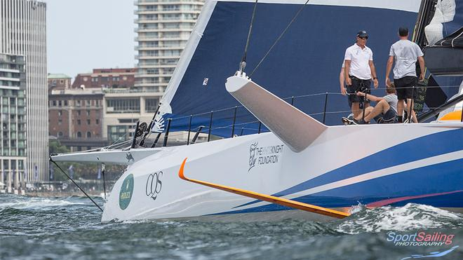The DSS foils look amazing and are quite well aft compared with other vessels that carry the system - CQS Media Launch © Beth Morley - Sport Sailing Photography http://www.sportsailingphotography.com