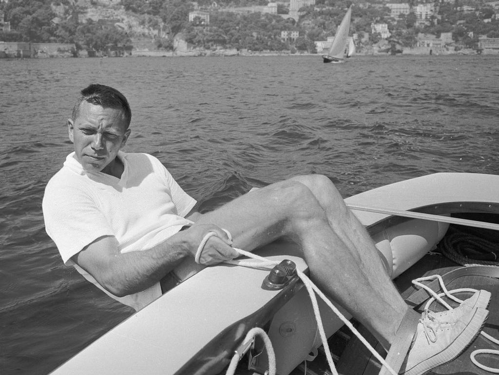 Paul Elvstrøm at the helm of his Finn in 1960 - photo © Archive