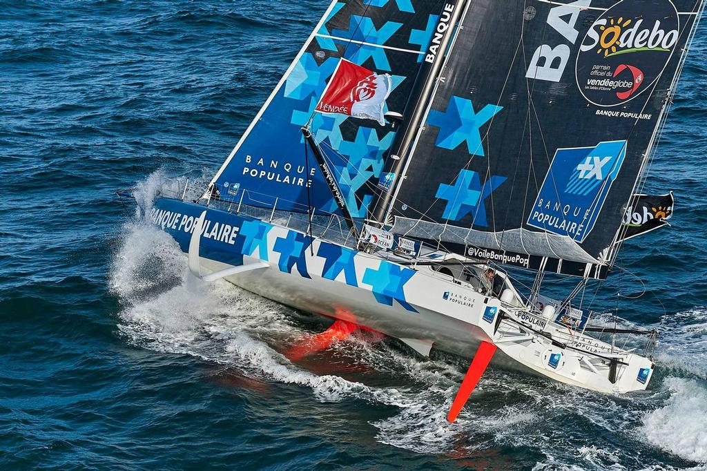 Banque Populaire VIII (Armel Le Cleac'h) looks set to be first to finish in the 2016/17 Vendee Globe Race - photo © Team Banque Populaire
