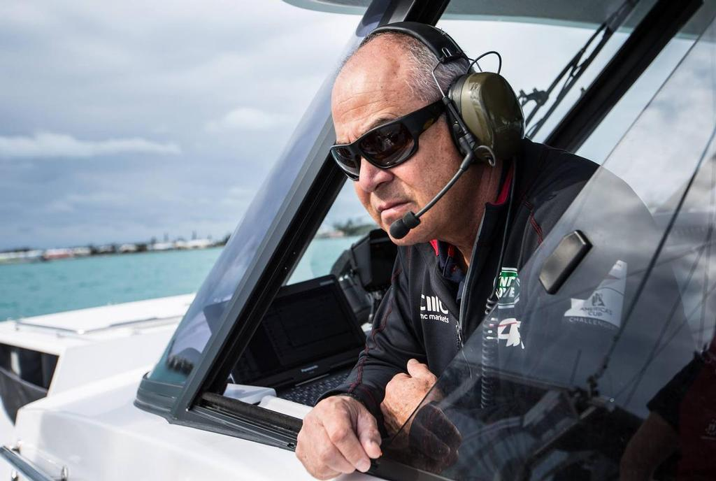 Structural Engineer Dirk Kramers - on the water in the 2017 America's Cup with Land Rover BAR A day in the Life of Land Rover BAR - photo © Alex Palmer