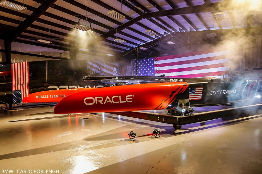 Oracle Team USA - new America's Cup Class boat - Unveiling - Bermuda, February 14, 2017 photo copyright BMW / Carlo Borlenghi taken at  and featuring the  class