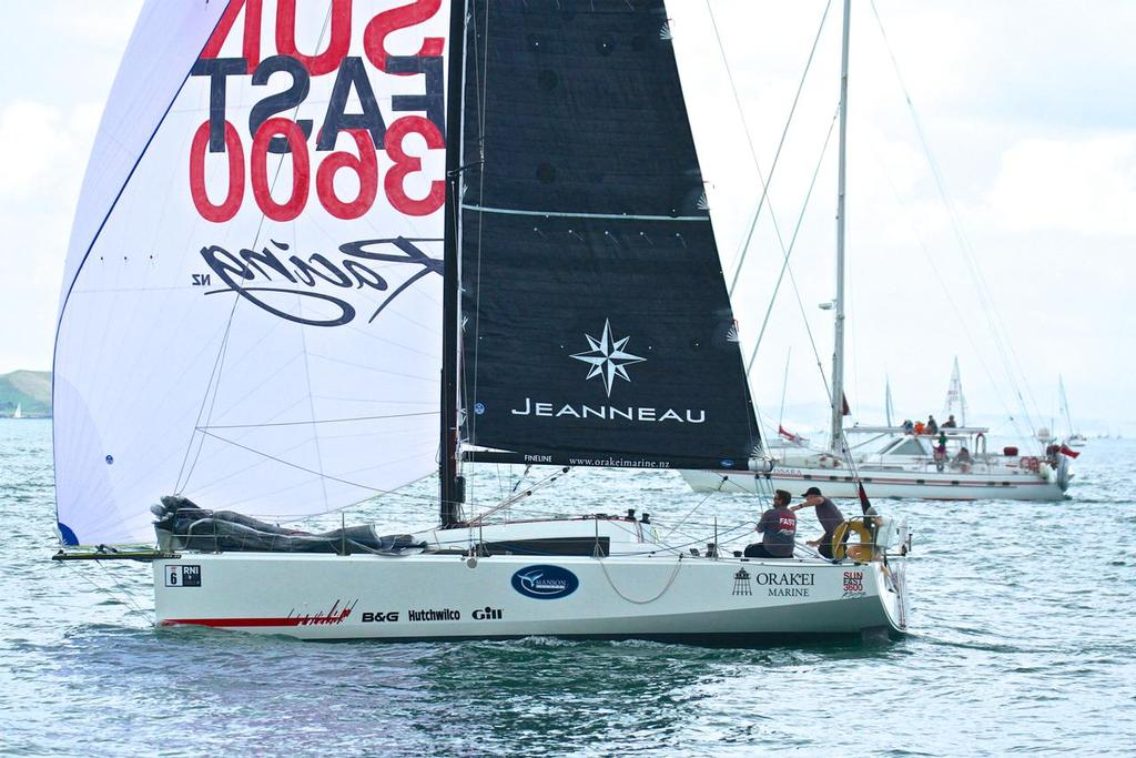 The Jeanneau sunfast 3600 won the 2017 Two-hand Round North Island (of New Zealand ) Race, but at 37ft is outside the World Sailing target length of 34ft.Start SSANZ Two Man Round North Island race Auckland.  February 16, 2017 - photo © Richard Gladwell <a target=