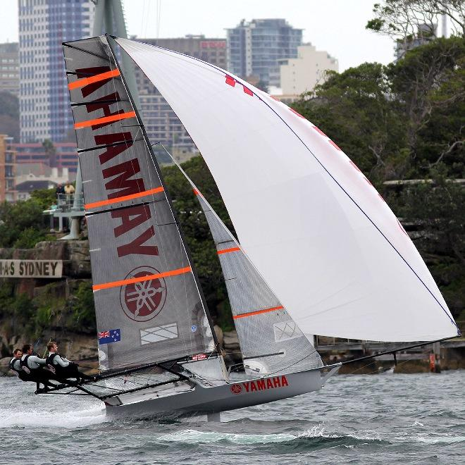 Yamaha's winning form - JJ Giltinan 18ft Skiff Championship © Frank Quealey /Australian 18 Footers League http://www.18footers.com.au