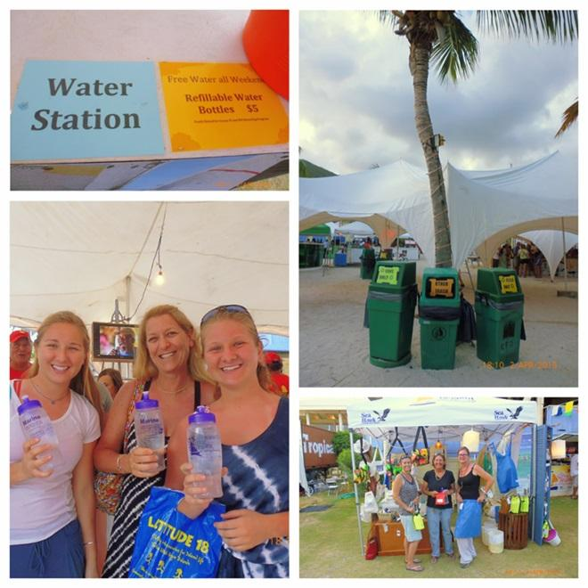 Water Bottles and Recycling is Priority © BVI Spring Regatta