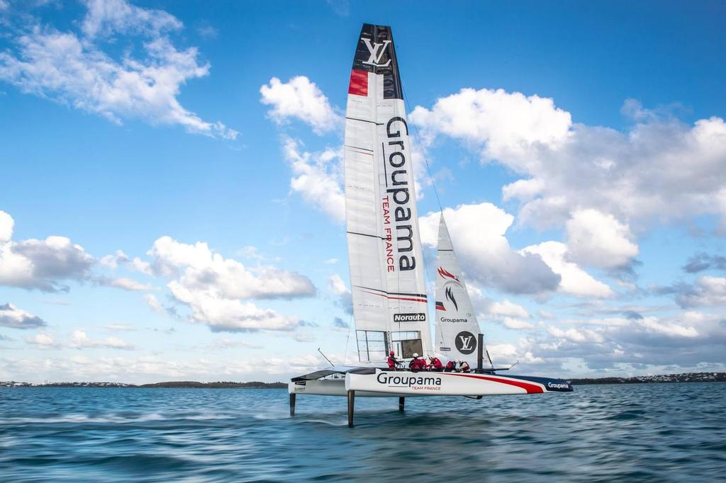 America's Cup - Groupama Team France's AC50 sailing in Bermuda - Video