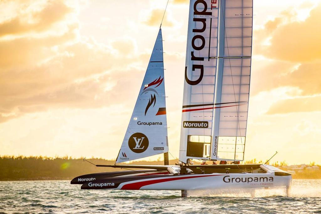 America's Cup - Groupama Team France's AC50 sailing in Bermuda - Video