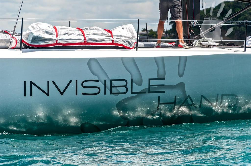 - Invisible Hand on sea trials in the Hauraki Gulf, January 2017 © Darren McManaway