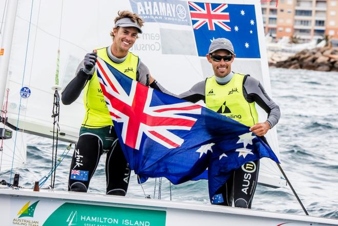 Belcher and Ryan - Sailing World Cup Hyères ©  Jesus Renedo / Sailing Energy http://www.sailingenergy.com/