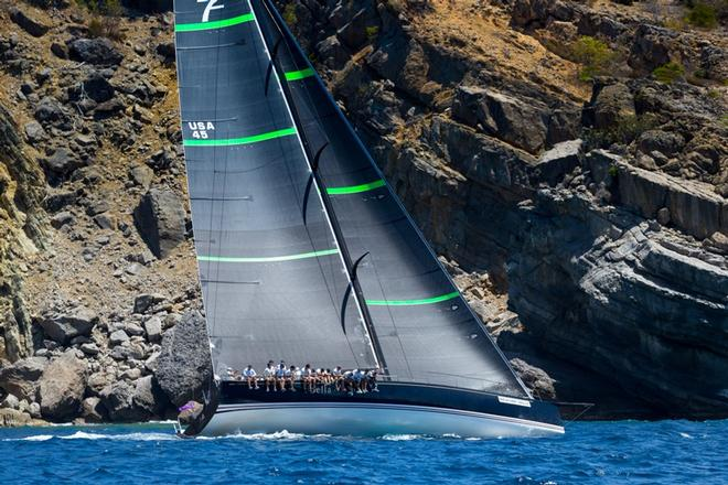 Bella Mente at the 2017 Les Voiles de St. Barth - European Racing Circuit © Christophe Jouany