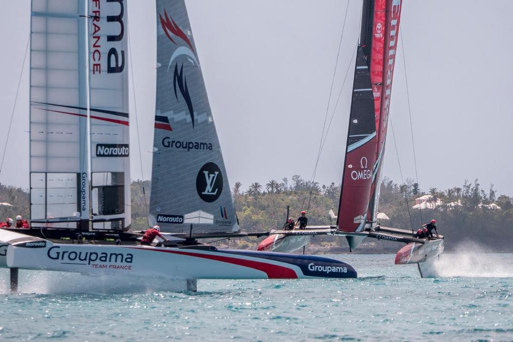 Emirates Team New Zealand - Practice Session 4, Great Sound, Bermuda - April 2017 © Hamish Hooper/Emirates Team NZ http://www.etnzblog.com
