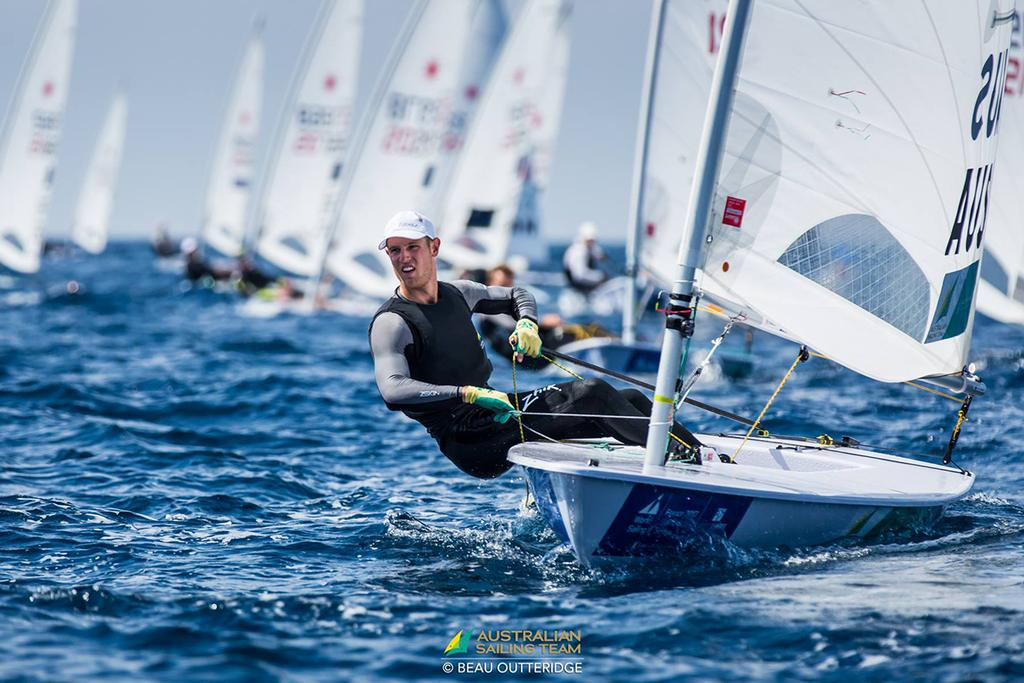 Matt Wearn on his way to winning a Bronze medal at Sailing World Cup - Hyeres 2017 photo copyright Australian Sailing Team / Beau Outteridge taken at  and featuring the  class