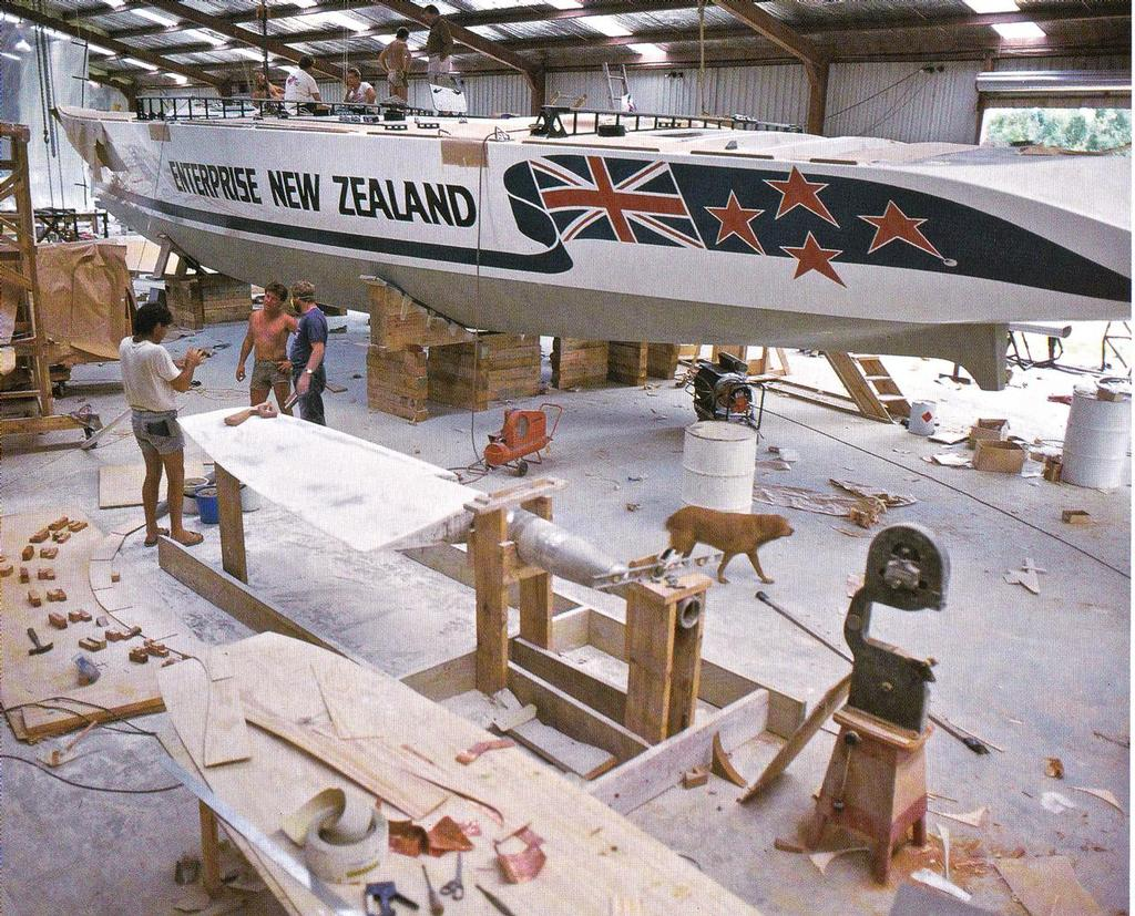 The maxi yacht New Zealand Enterprise built in a true monocoque one piece rotational moulding process,  masterminded and driven by Digby Taylor for the 1984/84 Whitbread Round the World Race photo copyright SW taken at  and featuring the  class