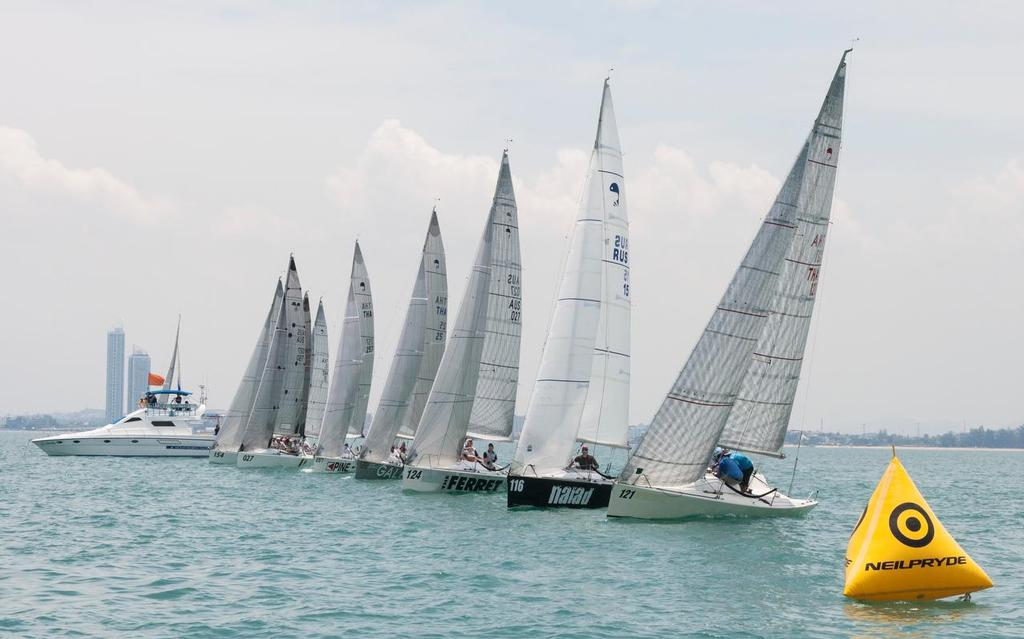 Looks like a proper start line... Platus, Top of the Gulf Regatta 2017. © Guy Nowell/ Top of the Gulf Regatta
