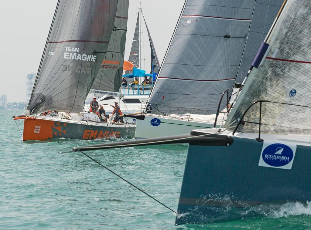 IRC 1 start from the pin end. Top of the Gulf Regatta 2017. © Guy Nowell/ Top of the Gulf Regatta