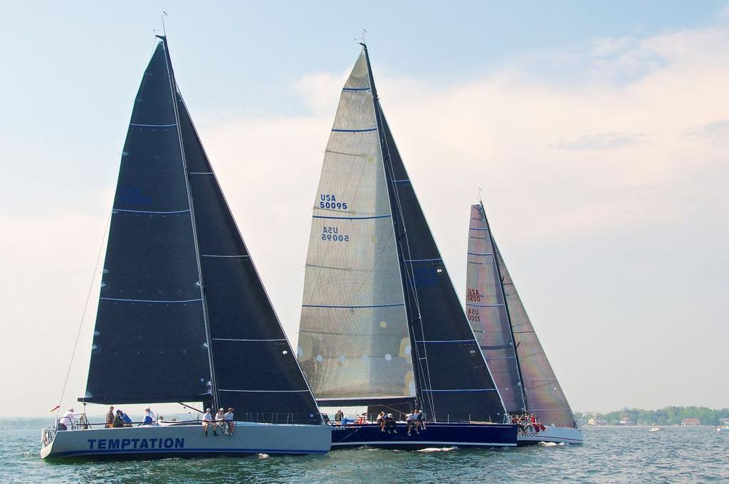 Temptation, Kodiak and High Noon during the Block Island Race - photo © Storm Trysail Club