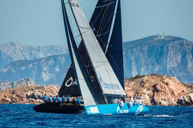Peninsula Petroleum and Bronenosec Sailing Team - Porto Cervo 2015 – RC44 Championship ©  Martinez Studio / RC44 Class