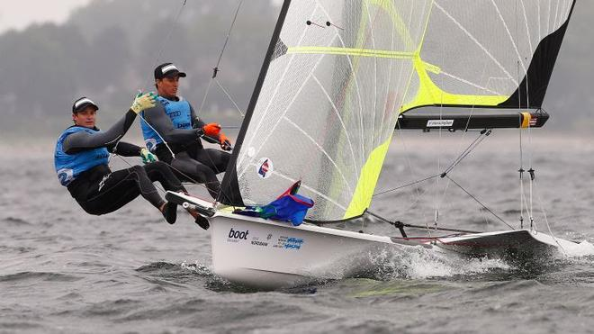 Australians duo David Gilmour and Joel Turner go into the Medal Race with a 20-point buffer ©  Kieler Woche / okPress.de