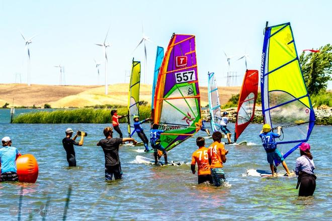 Kids Slalom Racing - Day 2 - Rio Vista Grand Slam 2017 © International Windsurfing Tour