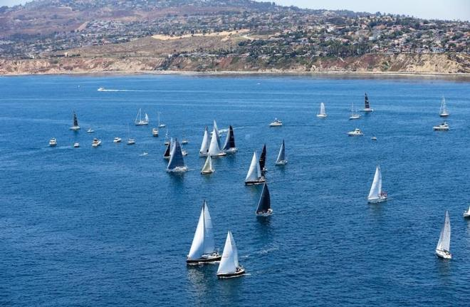 Divisions 6, 7 and 8 left the coast under light winds and sunny skies – Transpac Race ©  Sharon Green / Ultimate Sailing