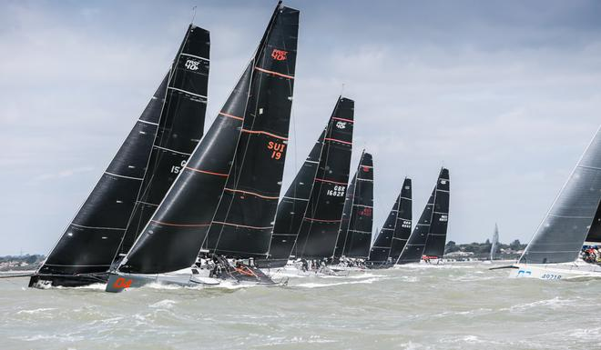 FAST40+ Start  - Day 1 - RORC IRC National Championship 2017 © Paul Wyeth
