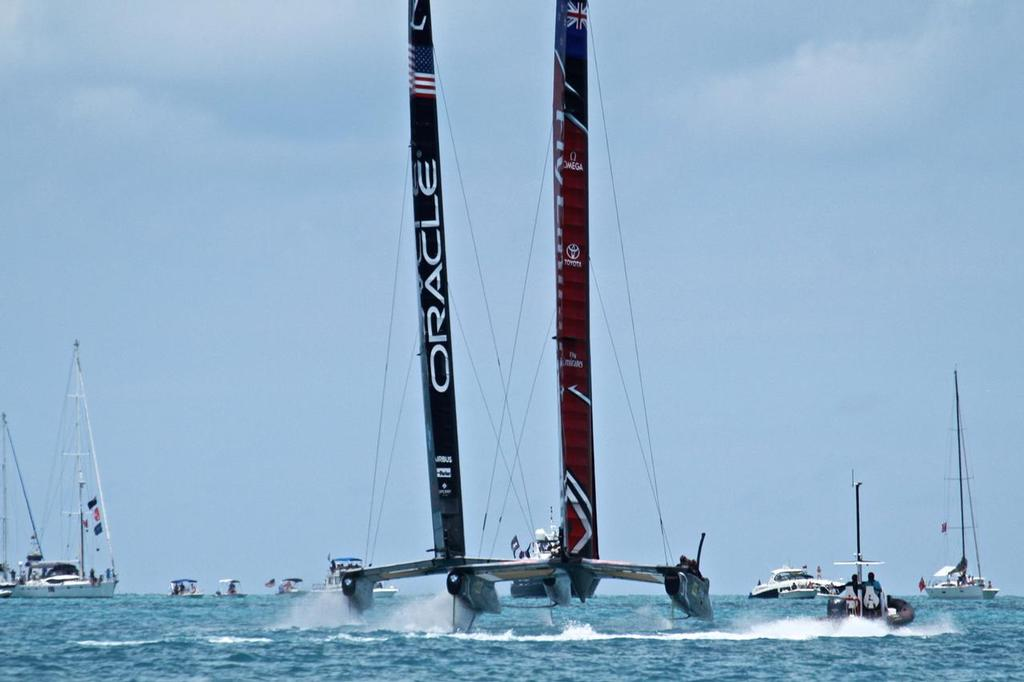 Emirates Team New Zealand and Oracle Team USA - Race 9 - Bermuda  June 26, 2017 © Richard Gladwell www.photosport.co.nz