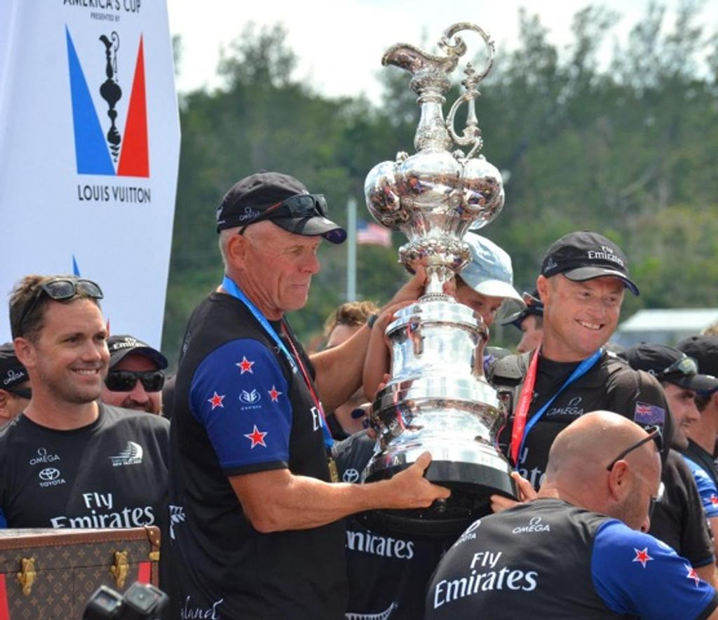 Grant Dalton and Glenn Ashby - America's Cup Presentation - June 27, 2017 America's Cup Village, Bermuda - photo © Scott Stallard http://scottstallard.com/