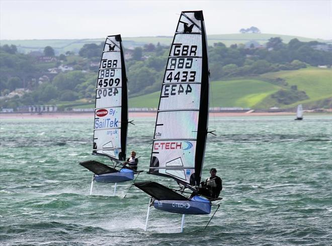 C-Tech sponsored sailors Dan Ward and Jim McMillan training for the Moth Worlds 1 - Dan Ward -  © C-TECH http://www.c-tech.co.nz