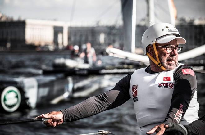 2015 Extreme Sailing Series Act 6, Saint Petersburg - Day 1 - Mitch Booth © Lloyd Images http://lloydimagesgallery.photoshelter.com/