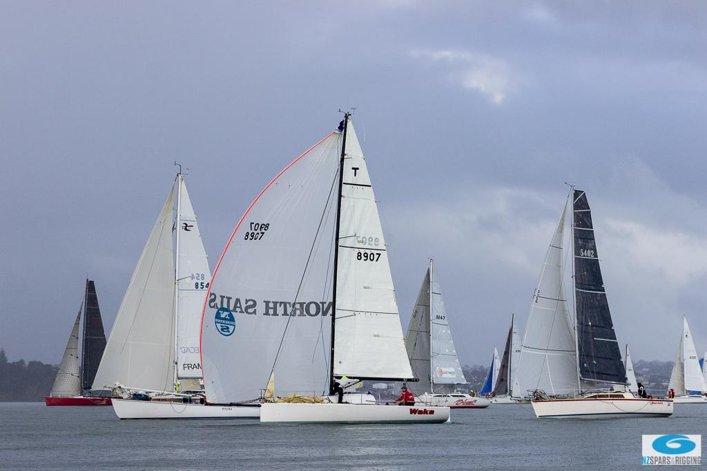 Fleet bunched up after the start - SSANZ NZ Rigging 60 © Deb Williams