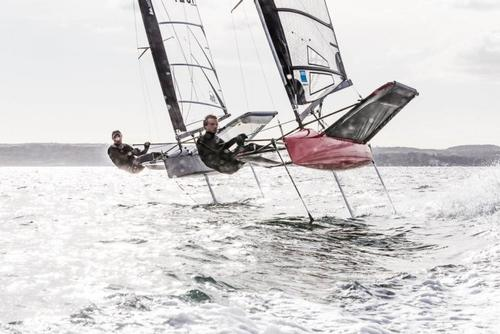 C-Tech sponsored sailors Dan Ward and Jim McMillan training for the Moth Worlds 2 - Dan Ward -  © C-TECH http://www.c-tech.co.nz