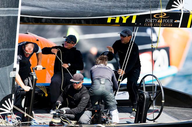 Action onboard Team Nika as the crew prepare to round the gate - 2017 RC44 Marstrand World Championship ©  Pedro Martinez / Martinez Studio / RC44