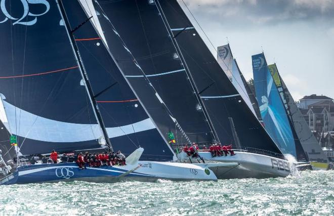 The Rolex Fastnet Race's largest monohull yachts at the start of the 2017 race from Cowes ©  Rolex/ Kurt Arrigo http://www.regattanews.com
