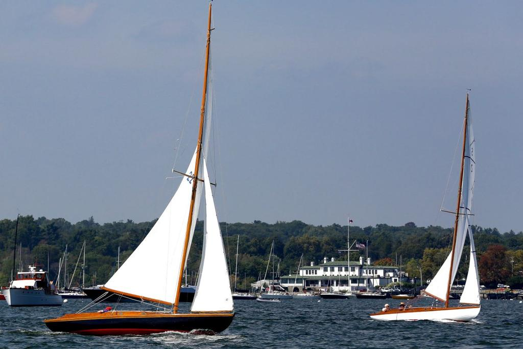 S Boats in front of IHYC Clubhouse © M.A. Fisher Photography