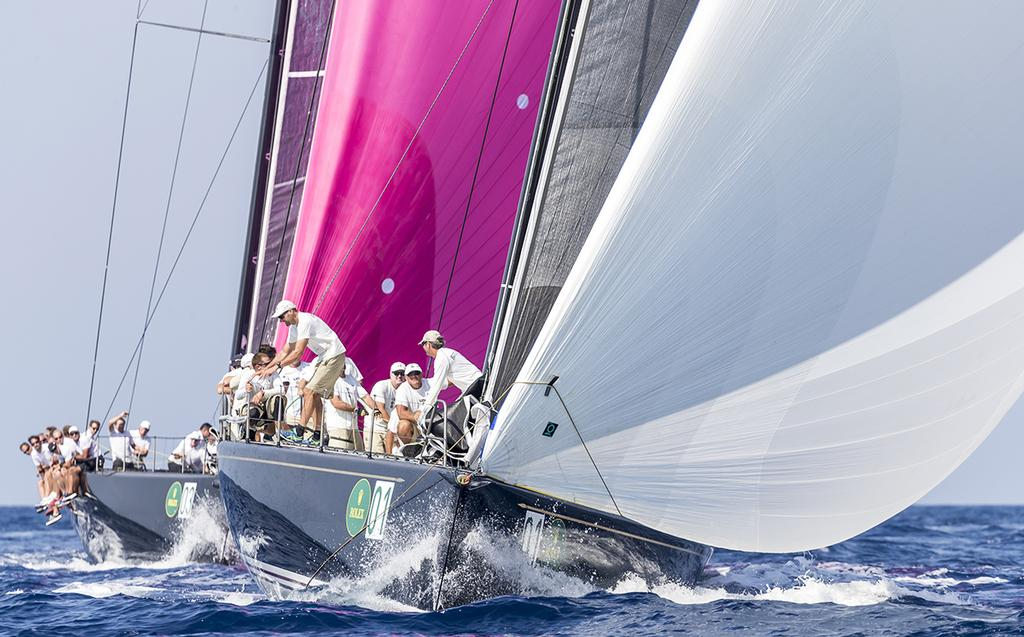 Owner/Driver Hap Fauth steering Bella Mente to a win in the 2016 Rolex Maxi 72 World Championship. ©  Rolex / Carlo Borlenghi http://www.carloborlenghi.net