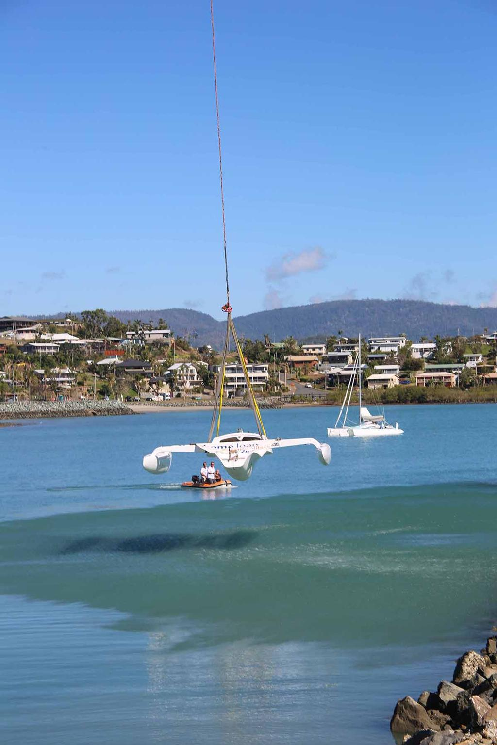 G'Nome ready to touch down off Whitsunday Sailing Club - 2017 Airlie Beach Race Week © Terry Archer