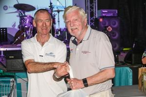 John Williams (right) was awarded the Boss Hog Trophy by Neil Newton - Airlie Beach Race Week - photo © Vampp Photography