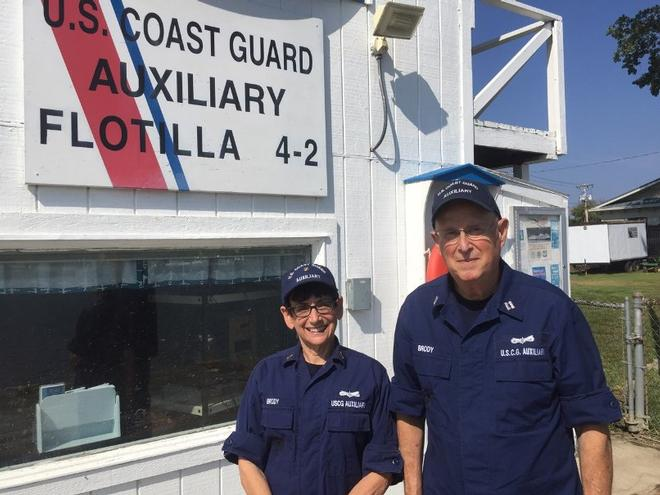 Patti Brody (left) and Robert Brody (right), U.S. Coast Guard Auxiliary © Coast Guard Foundation