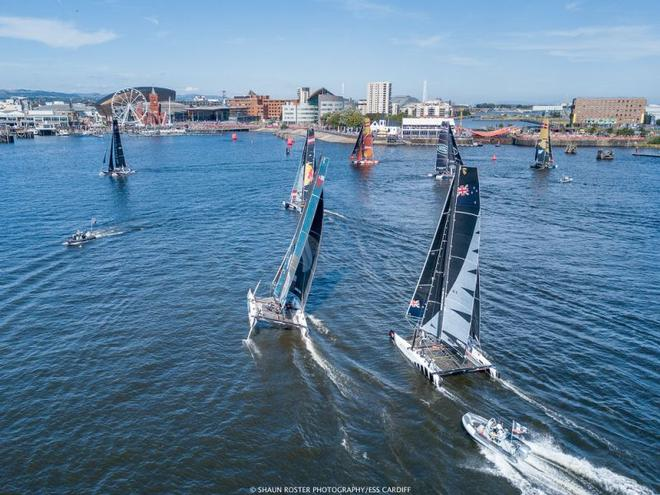 Day 4 – Act 6, Extreme Sailing Series Cardiff ©  Shaun Roster