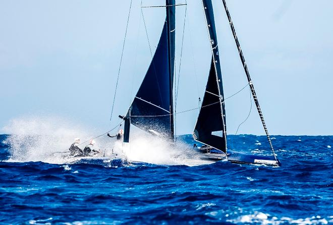 Day 1 – Wet ride aboard Mamma Aiuto – GC32 Orezza Corsica Cup © Jesus Renedo / GC32 Racing Tour